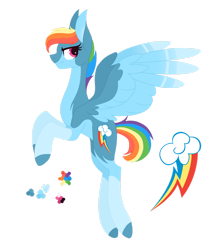 Size: 1280x1477 | Tagged: safe, artist:magicuniclaws, rainbow dash, pony, alternate design, simple background, solo, transparent background
