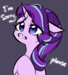 Size: 1495x1656   Tagged: safe, artist:hydrargyrum, starlight glimmer, pony, unicorn, crying, dialogue, female, mare, sad, sadlight glimmer, solo