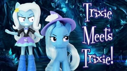 Size: 1280x720 | Tagged: safe, trixie, equestria girls, fanart, self paradox, self ponidox, toy