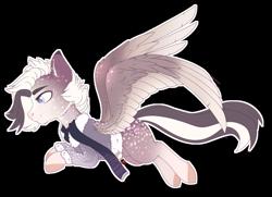 Size: 1024x743 | Tagged: safe, artist:nekoremilia1, oc, pegasus, pony, clothes, commission, male, scarf, solo