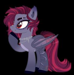 Size: 1024x1047 | Tagged: safe, artist:nekoremilia1, oc, bat pony, pony, base, base used, chains, solo