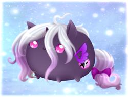 Size: 1024x777 | Tagged: safe, artist:nekoremilia1, oc, alicorn, pony, amino, chibi, long hair, ponybolita, solo