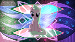 Size: 3840x2160 | Tagged: safe, artist:laszlvfx, edit, tender brush, winter lotus, earth pony, pony, solo, vector, wallpaper, wallpaper edit