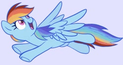Size: 1563x828 | Tagged: safe, artist:mn27, rainbow dash, pegasus, pony, cute, dashabetes, female, flying, gray background, mare, open mouth, simple background, solo, spread wings, wings