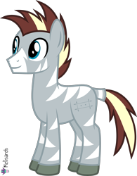 Size: 4000x5116 | Tagged: safe, artist:melisareb, oc, oc only, oc:zee zinc, original species, zebra, .svg available, absurd resolution, male, object zebra, show accurate, simple background, solo, stallion, transparent background, vector