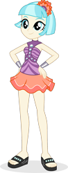 Size: 740x1880 | Tagged: safe, artist:punzil504, coco pommel, dance magic, equestria girls, spoiler:eqg specials, bracelet, clothes, equestria girls-ified, feet, female, jewelry, sandals, simple background, skirt, sleeveless, solo, tanktop, transparent background