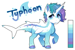 Size: 900x600 | Tagged: safe, artist:lastnight-light, oc, oc:typhoon, original species, shark, shark pony, male, simple background, solo, transparent background