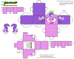 Size: 2979x2354 | Tagged: safe, part of a set, screwball, earth pony, pony, craft, cubeecraft, papercraft, printable, solo