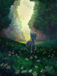 Size: 1920x2560 | Tagged: safe, artist:quvr, trixie, pony, unicorn, female, forest, horn, mare, solo, tree