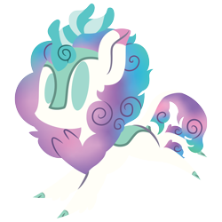 Size: 2100x2100 | Tagged: safe, artist:captshowtime, part of a set, oc, oc only, oc:fizzy glitch, kirin, pony, chibi, ciderfest, commission, con mascot, convention, convention mascot, cute, icon, mascot, ponysona, ponyville ciderfest, pvcf, simple background, solo, transparent background, ych result