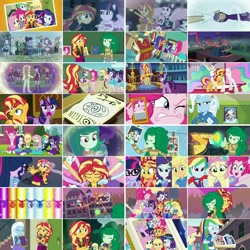 Size: 1080x1080 | Tagged: safe, artist:jericollage70, edit, edited screencap, screencap, applejack, blueberry cake, bulk biceps, curly winds, derpy hooves, fluttershy, heath burns, microchips, mystery mint, nolan north, orange sherbette, pinkie pie, princess celestia, rainbow dash, rarity, roseluck, sci-twi, some blue guy, spike, spike the regular dog, starlight, sunset shimmer, suri polomare, trixie, twilight sparkle, wallflower blush, watermelody, wiz kid, alicorn, dog, pony, unicorn, equestria girls, equestria girls (movie), equestria girls series, forgotten friendship, friendship games, legend of everfree, rainbow rocks, ^^, angry, animation error, applejack's hat, armpits, arms in the air, beach, beret, blonde hair, blushing, book, boots, bowtie, bracelet, canterlot high, cellphone, clothes, collage, converse, cowboy boots, cowboy hat, crying, cute, cutie mark, cutie mark on clothes, dashabetes, daydream shimmer, denim skirt, diapinkes, diatrixes, eyes closed, female, flashback, flowerbetes, gasp, geode of empathy, geode of fauna, geode of shielding, geode of sugar bombs, geode of super speed, geode of super strength, geode of telekinesis, glasses, green hair, grin, group hug, hairpin, hallway, hands on hip, hat, high heels, holding hands, hoodie, hug, humane five, humane seven, humane six, invisible (song), jackabetes, jacket, jewelry, leather, leather jacket, lockers, looking at you, looking back, looking down, magical geodes, male, memory stone, meta, midnight sparkle, midriff, multicolored hair, necklace, one eye closed, open mouth, peace sign, phone, pink hair, ponied up, ponytail, poster, purple hair, rainbow hair, rainbow rocks outfit, raribetes, rarity peplum dress, rear view, red hair, sandals, shimmerbetes, shirt, shoes, shyabetes, singing, skirt, smartphone, smiling, smiling at you, smirk, smug, spikabetes, swimsuit, t-shirt, tanktop, twiabetes, twilight sparkle (alicorn), twitter, twitter link, wall of tags, we've come so far, welcome to the show, w