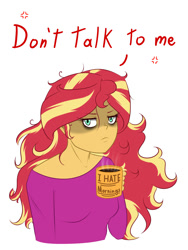 Size: 1500x2000   Tagged: safe, artist:albertbm, sunset shimmer, equestria girls, angry, breasts, busty sunset shimmer, coffee, coffee mug, cute, looking at you, madorable, mug, not a morning pony, not in the mood, shimmerbetes, simple background, sunset shimmer is not amused, unamused, white background