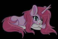 Size: 6997x4683 | Tagged: safe, artist:kireiinaa, oc, oc:bleeding heart, pony, unicorn, absurd resolution, female, lying down, mare, prone, simple background, solo, transparent background