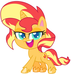 Size: 1024x1064 | Tagged: safe, artist:emeraldblast63, sunset shimmer, pony, unicorn, my little pony: pony life, pony life, g4 to g4.5, looking at you, simple background, transparent background, vector