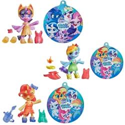 Size: 1200x1200 | Tagged: safe, dj pon-3, pinkie pie, princess cadance, princess celestia, princess luna, rainbow dash, rarity, shining armor, sunset shimmer, twilight sparkle, vinyl scratch, alicorn, earth pony, pegasus, unicorn, my little pony: pony life, boots, bow, clothes, doll, dress, female, guitar, male, musical instrument, my little pony logo, recolor, shoes, smashin' fashion, smiling, sunglasses, toy