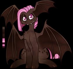 Size: 941x892   Tagged: safe, artist:velnyx, oc, oc:ganache, bat pony, male, simple background, solo, stallion, transparent background, wing ears