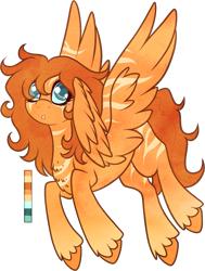 Size: 721x956 | Tagged: safe, artist:velnyx, oc, oc:marmalade, pegasus, pony, female, mare, simple background, solo, transparent background, wing ears