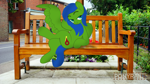 Size: 6000x3376   Tagged: safe, artist:indonesiarailroadpht, oc, oc only, oc:checkpoint, pegasus, pony, bench, building, female, fence, irl, looking at you, mare, photo, ponies in real life, road, sidewalk, watermark
