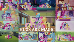 Size: 1918x1079 | Tagged: safe, edit, edited screencap, editor:quoterific, screencap, aloe, applejack, big macintosh, bruce mane, carrot cake, cheerilee, cloudchaser, cup cake, derpy hooves, fine line, fluttershy, goldengrape, lightning bolt, lily, lily valley, lyra heartstrings, masquerade, maxie, perfect pace, pinkie pie, princess cadance, rainbow dash, rarity, shining armor, sir colton vines iii, spike, starlight glimmer, thunderlane, twilight sparkle, white lightning, alicorn, earth pony, pegasus, pony, unicorn, all bottled up, daring don't, fame and misfortune, friendship is magic, magical mystery cure, princess twilight sparkle (episode), rarity takes manehattan, slice of life (episode), the cutie re-mark, the last problem, the return of harmony, crying, crylight sparkle, element of generosity, element of honesty, element of kindness, element of laughter, element of loyalty, element of magic, elements of harmony, eyes closed, fluttercry, group hug, hug, mane seven, mane six, open mouth, pinkie cry, s5 starlight, sad, sad smile, sadbow dash, tears of joy, twilight sparkle (alicorn), unicorn twilight