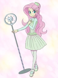 Size: 1620x2160   Tagged: safe, artist:haibaratomoe, fluttershy, equestria girls, equestria girls series, so much more to me, cute, female, looking at you, microphone, shyabetes, solo