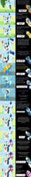 Size: 3296x18539 | Tagged: safe, artist:mlp-silver-quill, blue blazes, coco pommel, derpy hooves, flash sentry, fleetfoot, high winds, misty fly, princess cadance, silver lining, silver zoom, soarin', spitfire, thunderlane, wave chill, alicorn, earth pony, pegasus, pony, comic:pinkie pie says goodnight, wonderbolts academy, blushing, blushing profusely, clothes, comic, commentary, goggles, implied soarinpommel, nuzzling, oblivious, runway, shipper on deck, shipping fuel, soarinpommel, that princess sure does love shipping, uniform, wonderbolts, wonderbolts uniform