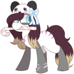 Size: 768x778 | Tagged: safe, artist:jetjetj, part of a set, oc, oc only, oc:pandora (pandorasia), earth pony, pony, candy, candy cane, commission, female, food, mare, mouth hold, simple background, solo, transparent background, ych result