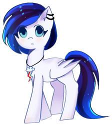 Size: 1164x1299   Tagged: artist needed, safe, oc, oc only, oc:foorie, pegasus, pony, 2021 community collab, derpibooru community collaboration, ear piercing, earring, female, jewelry, looking at you, mare, piercing, simple background, transparent background