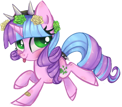 Size: 695x609 | Tagged: safe, artist:misspinka, oc, oc:ivy lush, pony, unicorn, chibi, female, mare, simple background, solo, tongue out, transparent background