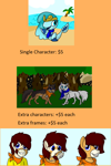 Size: 1000x1500 | Tagged: safe, advertisement, commission info, ponies