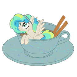 Size: 1700x1700 | Tagged: safe, artist:katelynleeann42, oc, oc:sour patch, pegasus, pony, cup, cup of pony, female, mare, micro, simple background, solo, transparent background