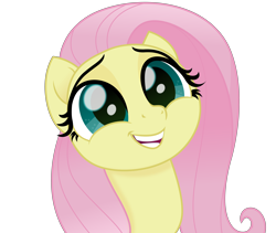 Size: 5060x4268   Tagged: safe, artist:cirillaq, fluttershy, pegasus, pony, my little pony: the movie, absurd resolution, bust, cute, shyabetes, simple background, solo, transparent background, vector
