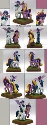 Size: 2549x6744   Tagged: safe, artist:ubrosis, princess cadance, princess flurry heart, shining armor, alicorn, pony, unicorn, craft, family, female, filly, male, mare, photo, sculpture, shiningcadance, shipping, stallion, straight