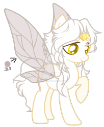Size: 1280x1571   Tagged: safe, artist:whiteplumage233, oc, fairy, fairy pony, original species, pony, fairy wings, female, simple background, solo, transparent background, wings