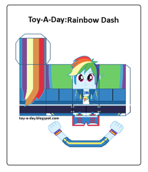 Size: 600x699 | Tagged: safe, artist:grapefruitface1, rainbow dash, equestria girls, arts and crafts, craft, female, papercraft, printable, toy a day