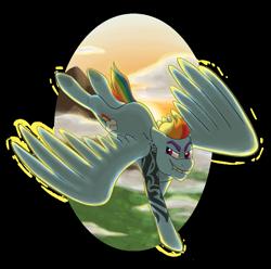 Size: 1280x1268   Tagged: safe, artist:verikoira, rainbow dash, pegasus, pony, female, looking at you, mare, older, older rainbow dash, semi-transparent background, solo