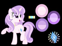 Size: 1691x1260   Tagged: safe, artist:stellamoonshineyt, oc, oc:elizabeth, pony, unicorn, female, mare, offspring, parent:fancypants, parent:rarity, parents:raripants, reference sheet, simple background, solo, transparent background