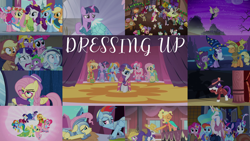Size: 1986x1117   Tagged: safe, edit, edited screencap, editor:quoterific, screencap, applejack, baroque cloak, bon bon, bonnie rose, carrot top, dj pon-3, evening stroll, featherweight, flutterholly, fluttershy, golden harvest, lady justice, lyra heartstrings, merry, octavia melody, paraviolet, pinkie pie, princess celestia, rainbow dash, rarity, rising yeast, snowdash, sooty sweeps, spike, spirit of hearth's warming presents, sweetie drops, swift justice, twilight sparkle, vinyl scratch, alicorn, bat pony, mermaid, pony, a hearth's warming tail, canterlot boutique, fake it 'til you make it, luna eclipsed, magical mystery cure, make new friends but keep discord, rarity investigates, scare master, season 1, season 2, season 3, season 4, season 5, season 8, simple ways, suited for success, the crystal empire, spoiler:s08, alternate hairstyle, animal costume, applejewel, applelion, armor, astrodash, athena sparkle, bat ponified, clothes, costume, detective rarity, dragon costume, dress, fireplace, flutterbat, gala dress, hipstershy, james moriarty, john watson, jousting outfit, mane six, mermarity, pinkie puffs, princess dress, race swap, rarihick, severeshy, sherlock, sherlock holmes, star swirl the bearded costume, twilight sparkle (alicorn), unnamed character, unnamed pony, victrola scratch, wax cylinder
