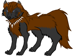 Size: 2200x1700 | Tagged: artist needed, safe, oc, oc only, oc:coco winchester, hybrid, pony, wolf, wolf pony, female, simple background, solo, white background