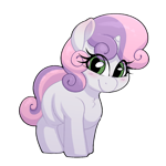 Size: 1124x1124 | Tagged: safe, artist:quarantinedchaoz, sweetie belle, pony, unicorn, blank flank, blushing, chest fluff, cute, diasweetes, female, filly, simple background, smiling, solo, transparent background