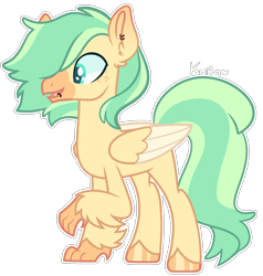 Size: 1492x1566 | Tagged: safe, artist:kurosawakuro, oc, classical hippogriff, hippogriff, magical lesbian spawn, male, offspring, parent:princess skystar, parent:sunset shimmer, simple background, solo, transparent background