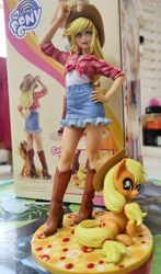 Size: 2723x4640 | Tagged: safe, kotobukiya, applejack, human, applejack's hat, cowboy hat, figurine, hat, humanized, kotobukiya applejack, toy