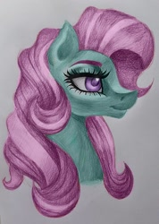 Size: 1120x1572 | Tagged: safe, artist:stormystica, minty, earth pony, bust, g3, portrait, profile, solo