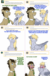 Size: 1502x2254   Tagged: safe, artist:do-not-go-gently-42, derpy hooves, doctor whooves, time turner, earth pony, pegasus, pony, lovestruck derpy, blushing, comic, crossover, dialogue, doctor who, doctorderpy, female, implied amethyst star, implied dinky, implied time travel, male, mare, shipping, stallion, straight, the doctor