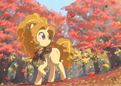 Size: 2048x1448 | Tagged: safe, artist:yanamosuda, adagio dazzle, pony, unicorn, equestria girls, equestria girls series, adoragio, cute, equestria girls ponified, forest, leaves, ponified, solo, species swap, tree