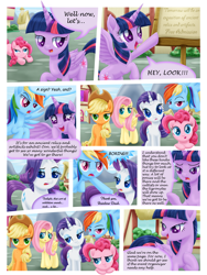 Size: 3000x4000 | Tagged: safe, artist:lifesharbinger, artist:mrrowerscream, applejack, fluttershy, pinkie pie, rainbow dash, rarity, twilight sparkle, alicorn, comic:curse and madness, mlpcam, starry eyes, twilight sparkle (alicorn), wingding eyes