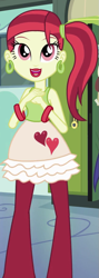 Size: 333x931 | Tagged: safe, screencap, rose heart, equestria girls, equestria girls (movie), cropped, ear piercing, earring, female, jewelry, lipstick, piercing, solo