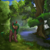Size: 2048x2048 | Tagged: safe, artist:exploretheweb, oc, oc:selketo, firefly (insect), insect, kirin, flower, forest, kirin oc, lake, long mane, looking at you, male, photo, plants, sky, solo, tail fluff, text, tree, water