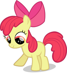 Size: 7314x8084 | Tagged: safe, artist:thatusualguy06, apple bloom, earth pony, pony, magical mystery cure, .svg available, absurd resolution, female, filly, simple background, solo, svg, transparent background, vector