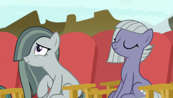 Size: 1920x1080 | Tagged: safe, screencap, limestone pie, marble pie, earth pony, pony, rock solid friendship, female, mare, smiling