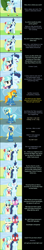 Size: 2000x11249 | Tagged: safe, artist:mlp-silver-quill, coco pommel, derpy hooves, misty fly, soarin', spitfire, earth pony, pegasus, comic:pinkie pie says goodnight, wonderbolts academy, blushing, blushing profusely, clothes, comic, implied soarinpommel, nuzzling, oblivious, runway, shipping fuel, uniform, wonderbolts uniform